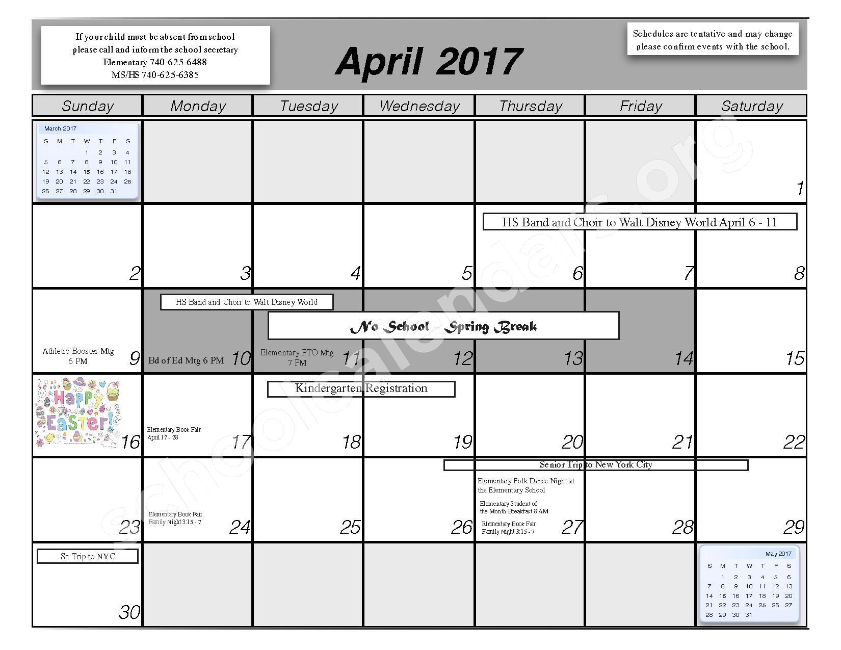2016 - 2017 School Calendar – Centerburg Local Schools – page 9