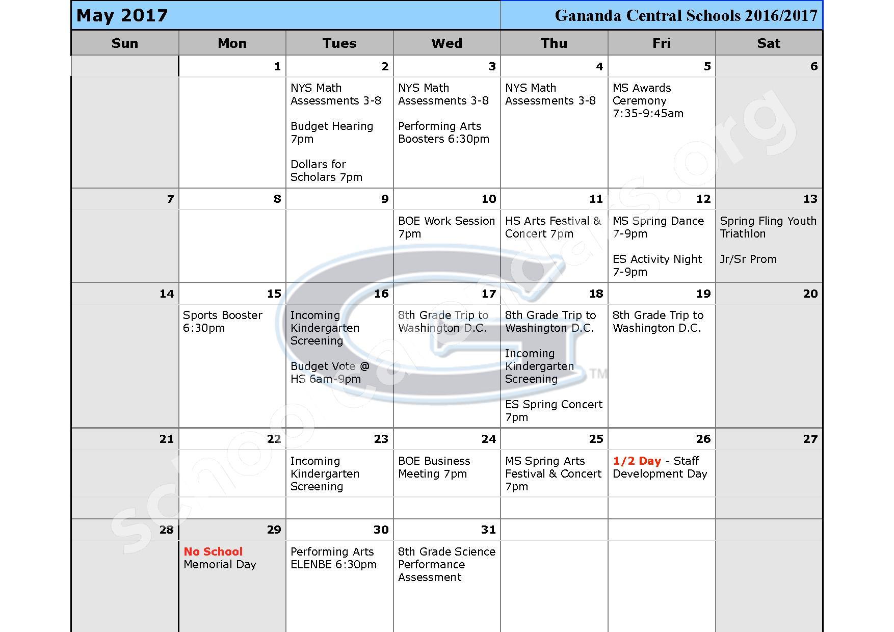 2016 - 2017 School Calendar – Ruben A Cirillo High School – page 10