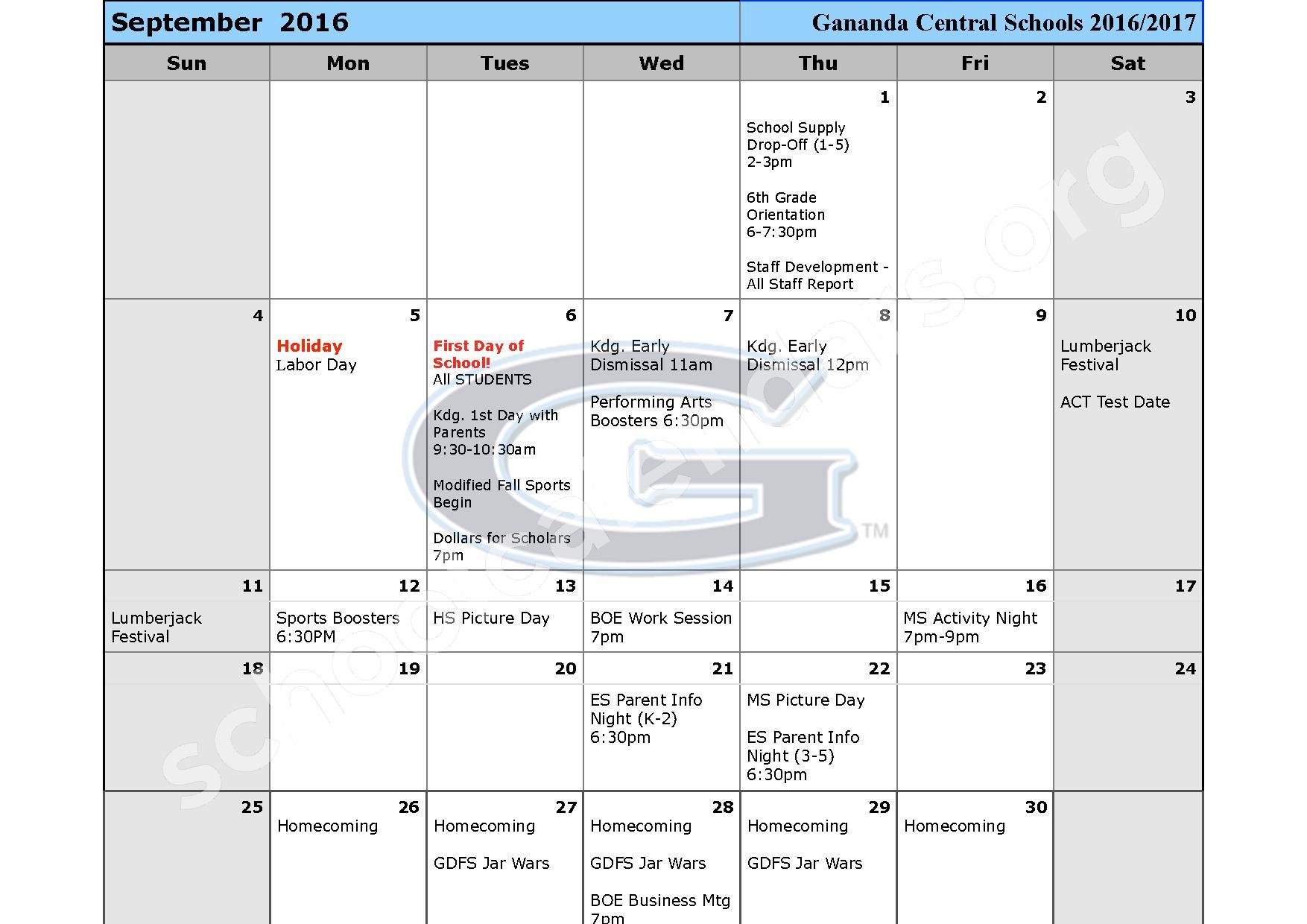 2016 - 2017 School Calendar – Ruben A Cirillo High School – page 2