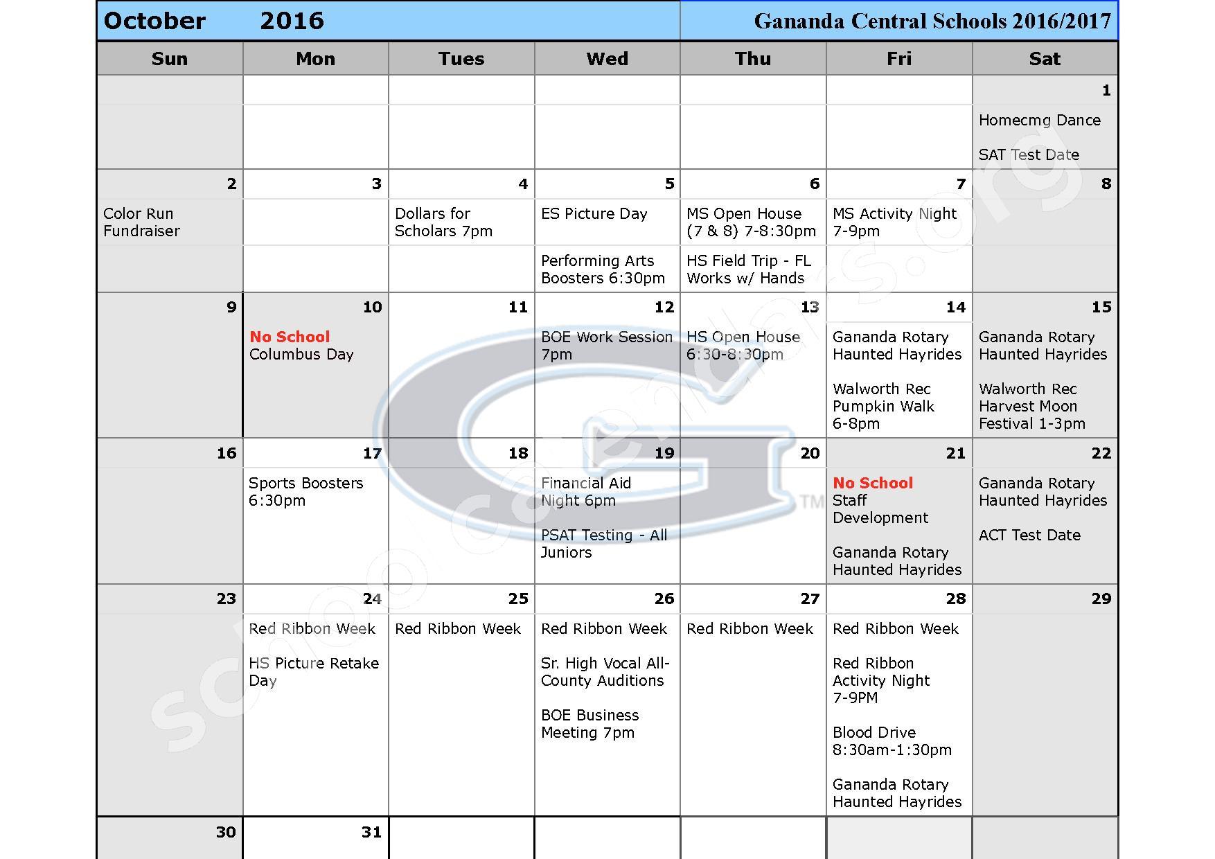 2016 - 2017 School Calendar – Ruben A Cirillo High School – page 3