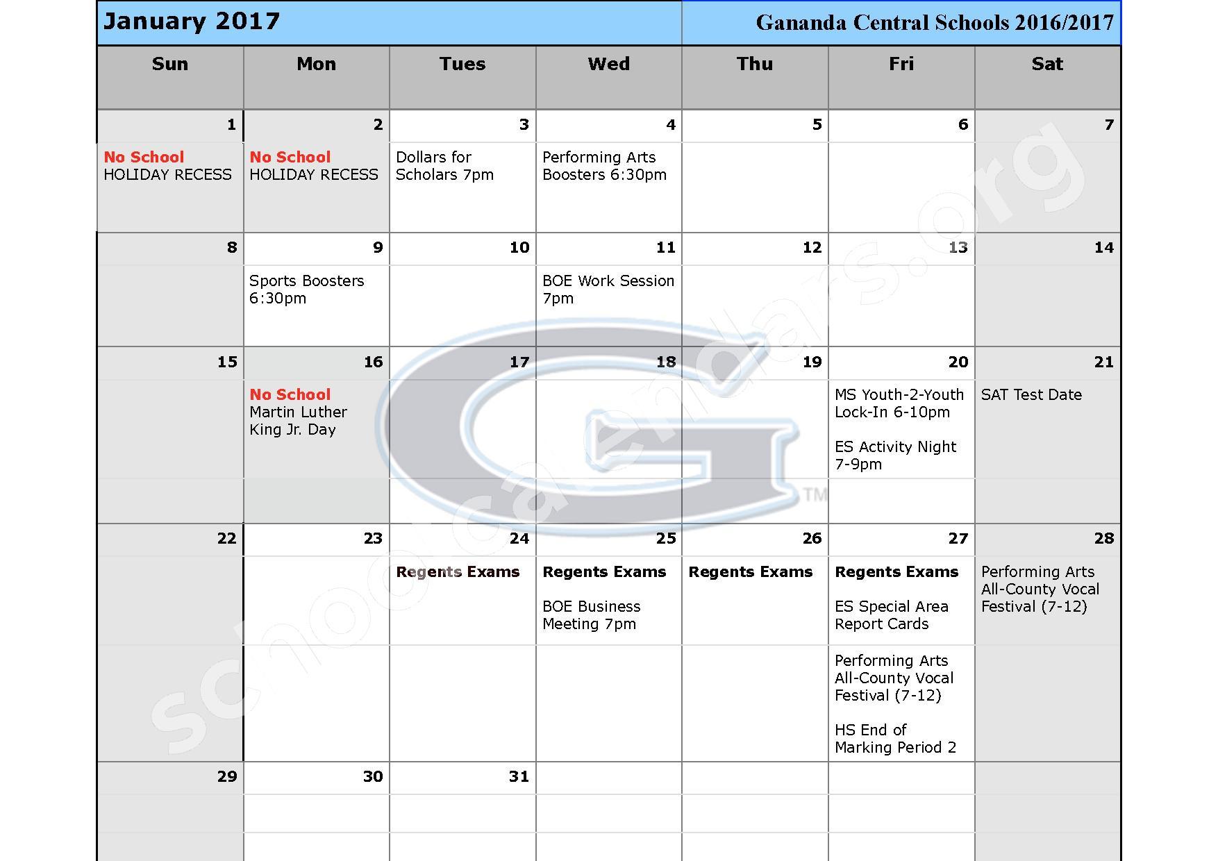 2016 - 2017 School Calendar – Ruben A Cirillo High School – page 6