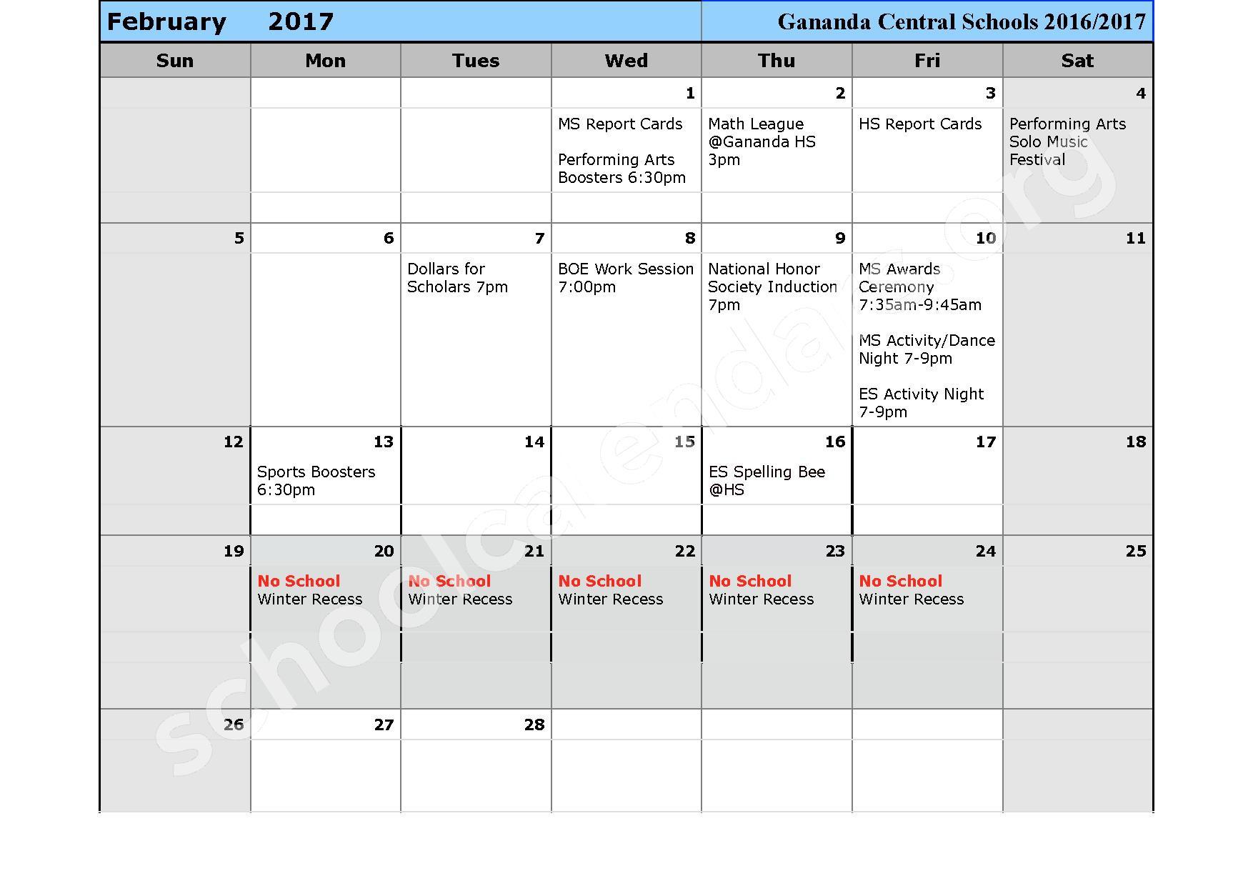2016 - 2017 School Calendar – Ruben A Cirillo High School – page 7