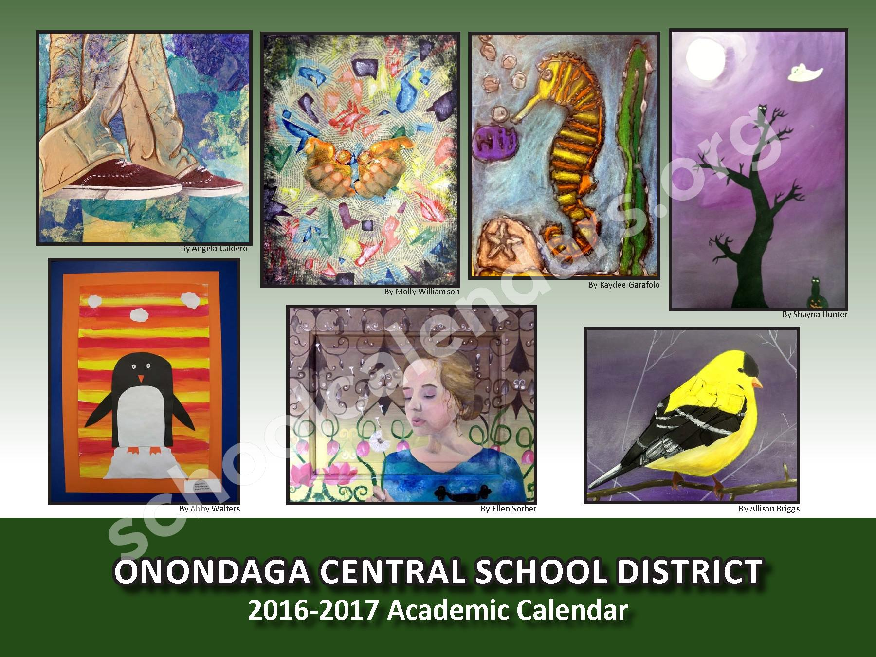 2016 - 2017 School Calendar – Onondaga Central School District – page 1