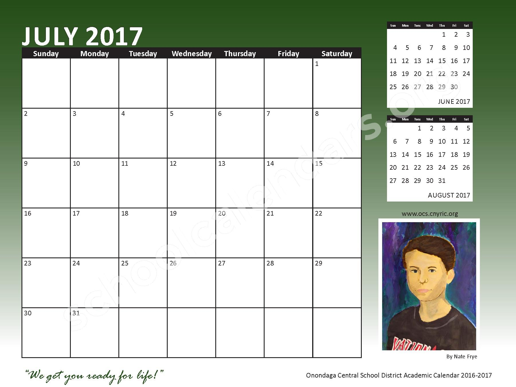 2016 - 2017 School Calendar – Onondaga Central School District – page 25