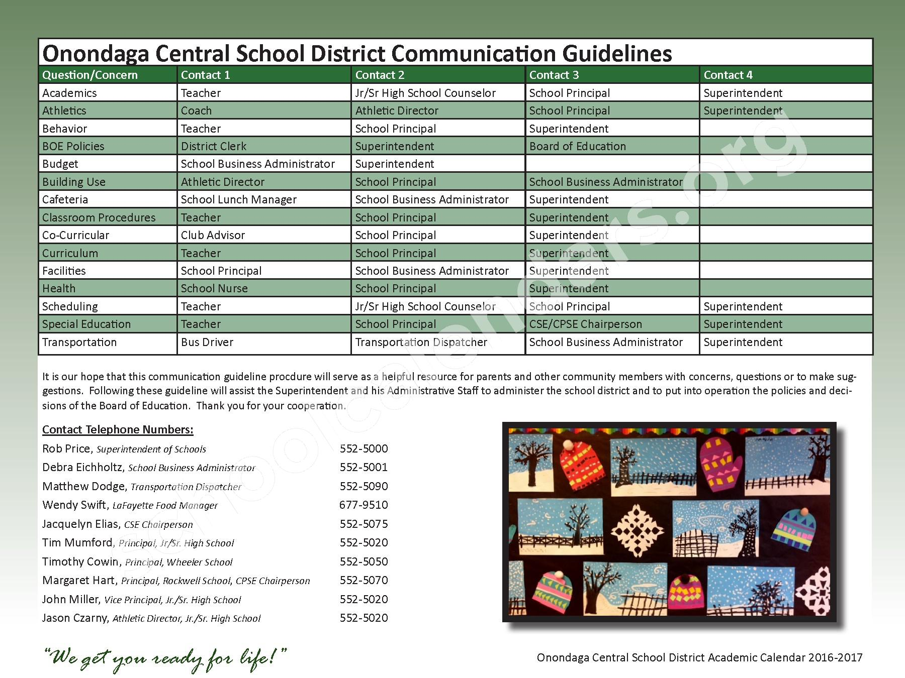 2016 - 2017 School Calendar – Onondaga Central School District – page 4