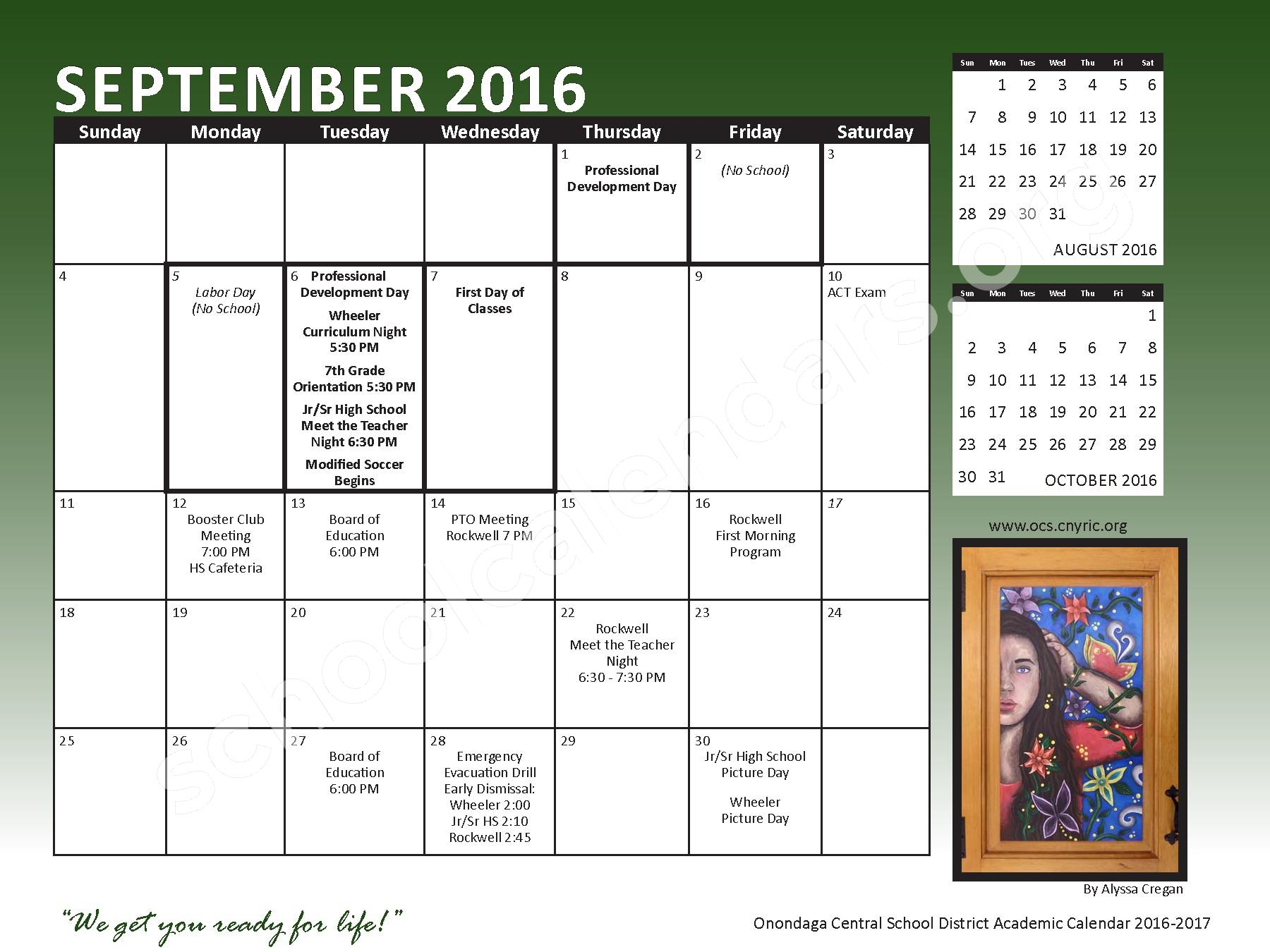 2016 - 2017 School Calendar – Onondaga Central School District – page 5