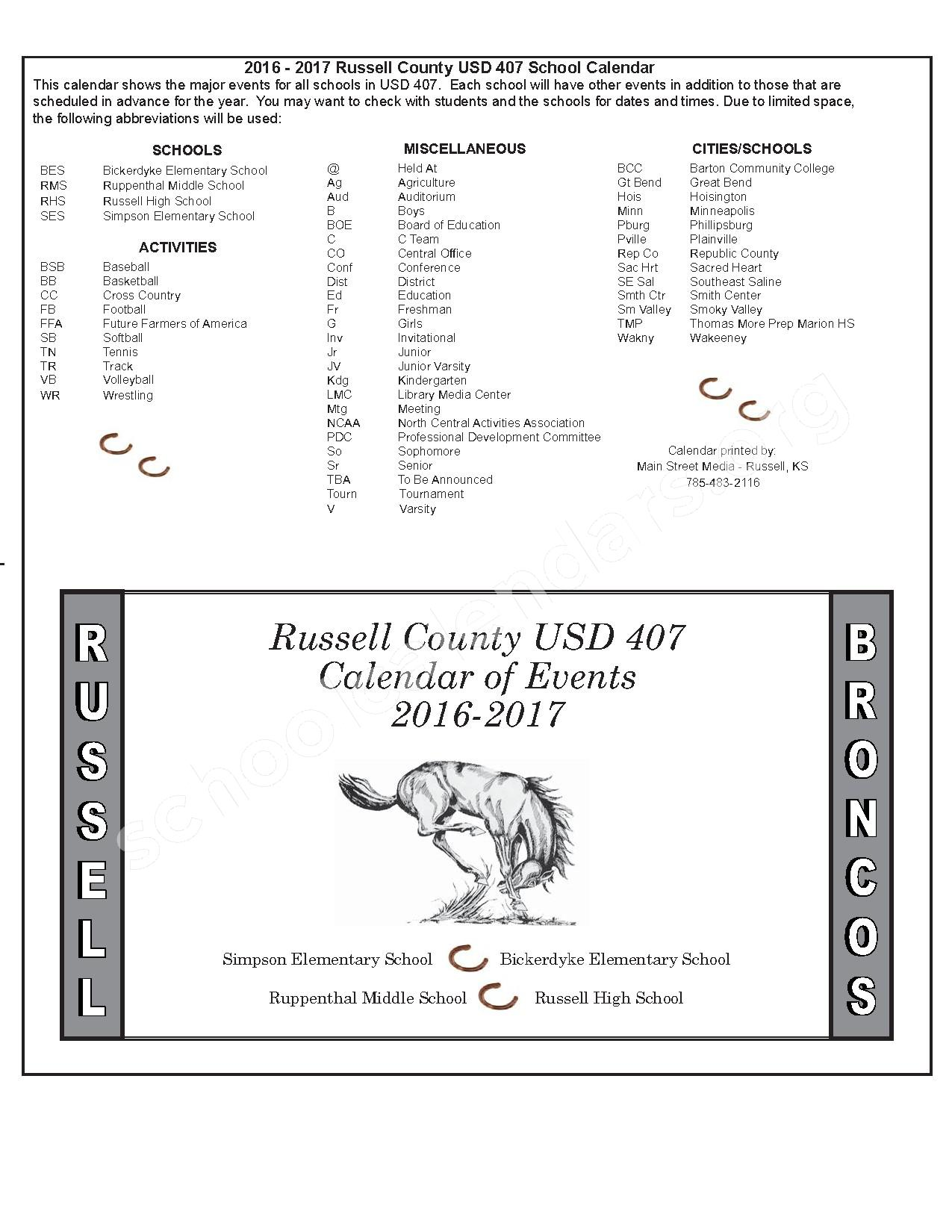 2016 - 2017 District Calendar – Russell County Schools USD 407 – page 14