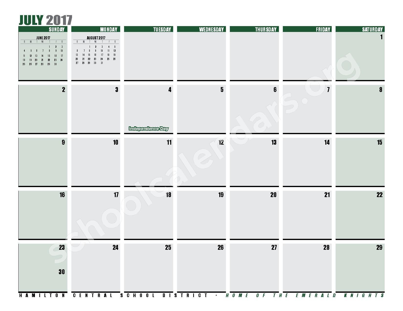 2016 - 2017 District Calendar – Hamilton Central School District – page 29