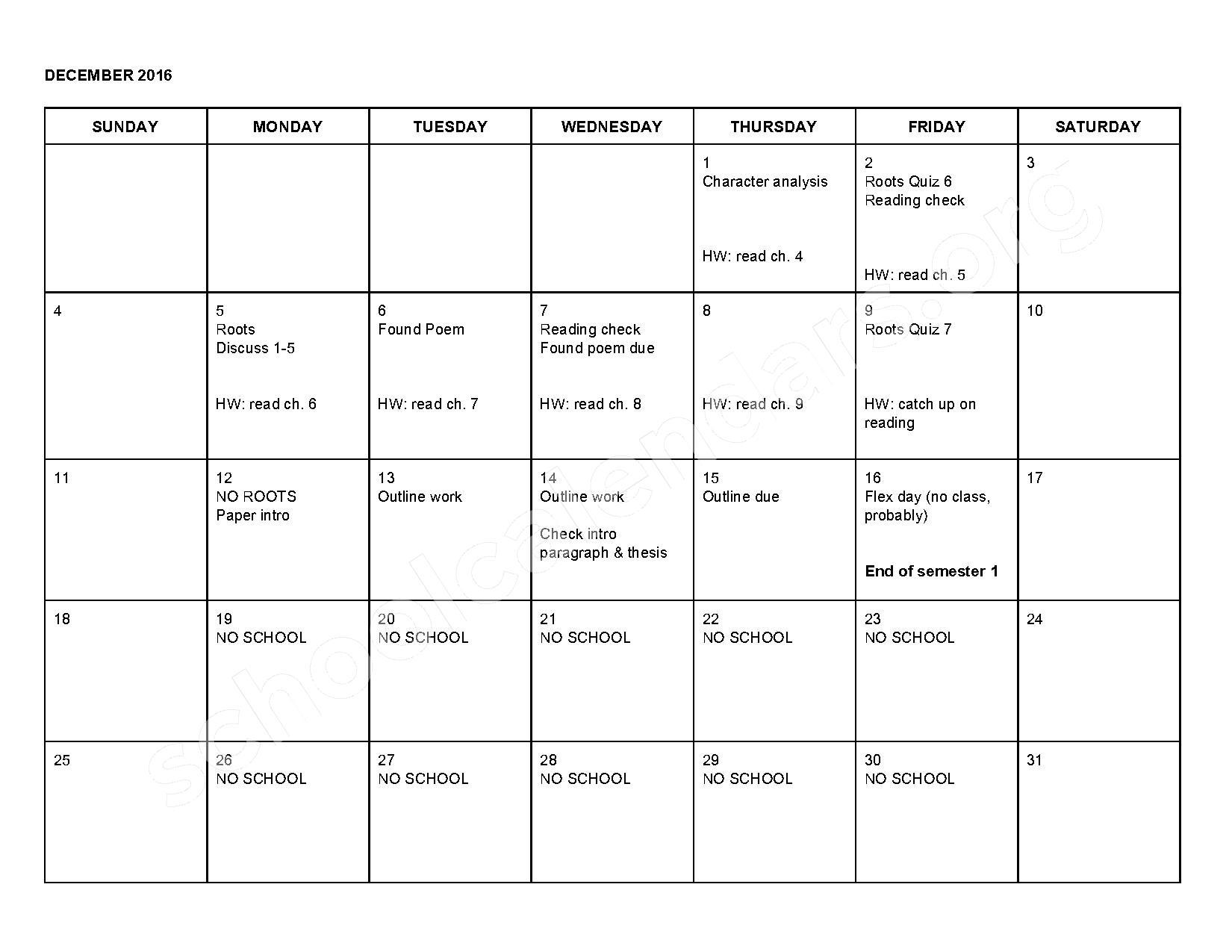 2016 - 2017 School Calendar – Shepherd Public Schools – page 5