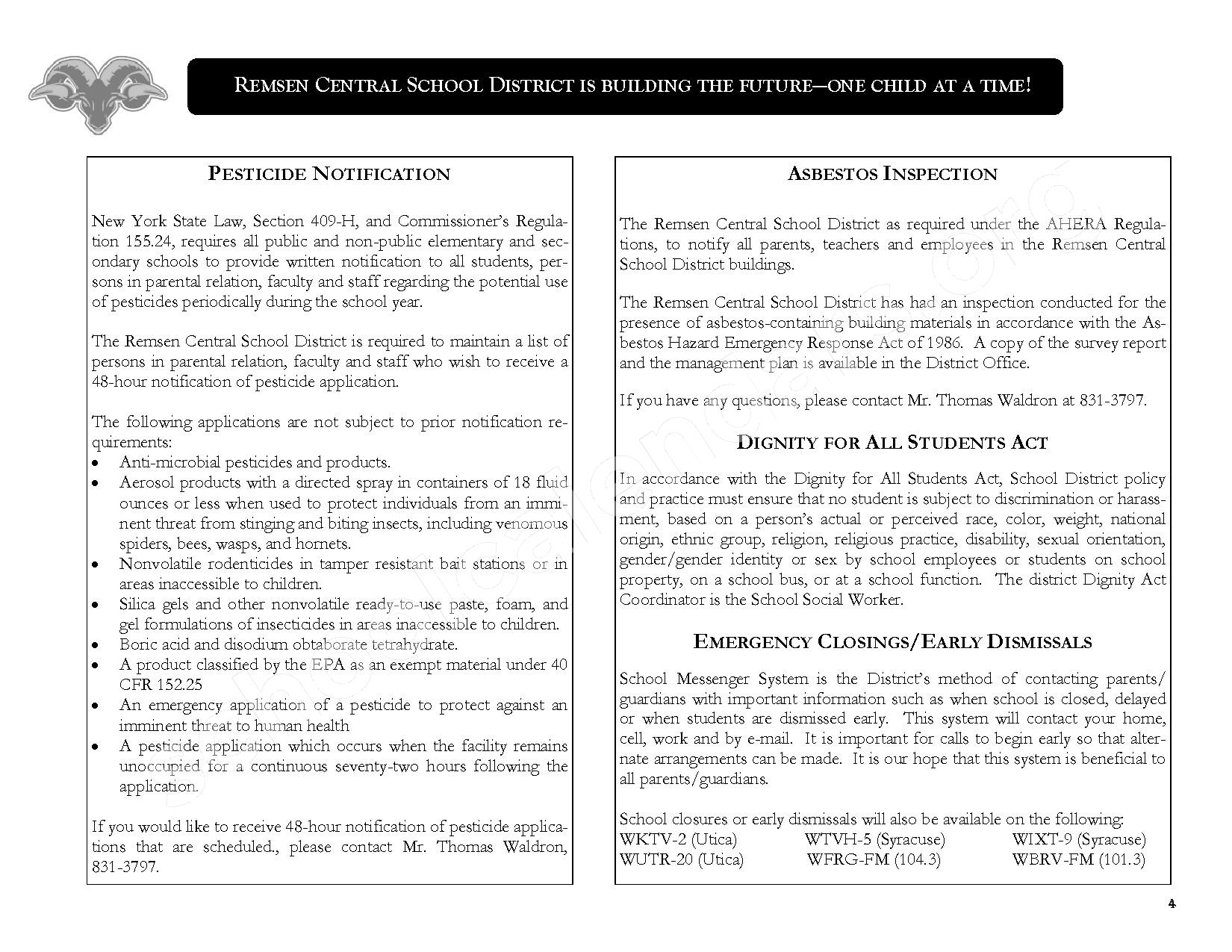 2016 - 2017 District Calendar – Remsen Central School District – page 6