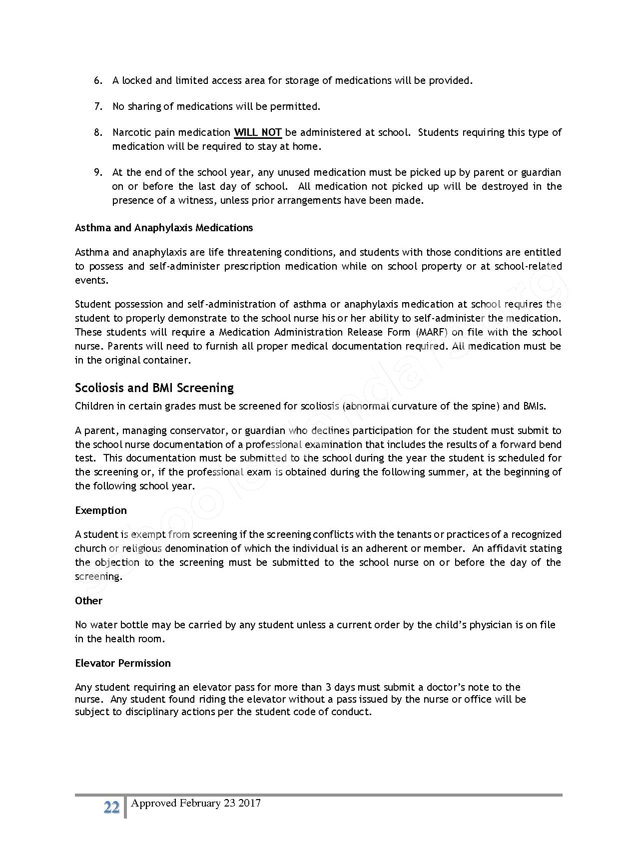2016 - 2017 District Calendar – Lisa Academy Public Charter Schools – page 22