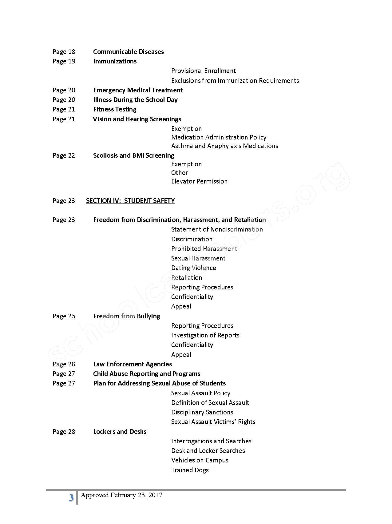 2016 - 2017 District Calendar – Lisa Academy Public Charter Schools – page 3