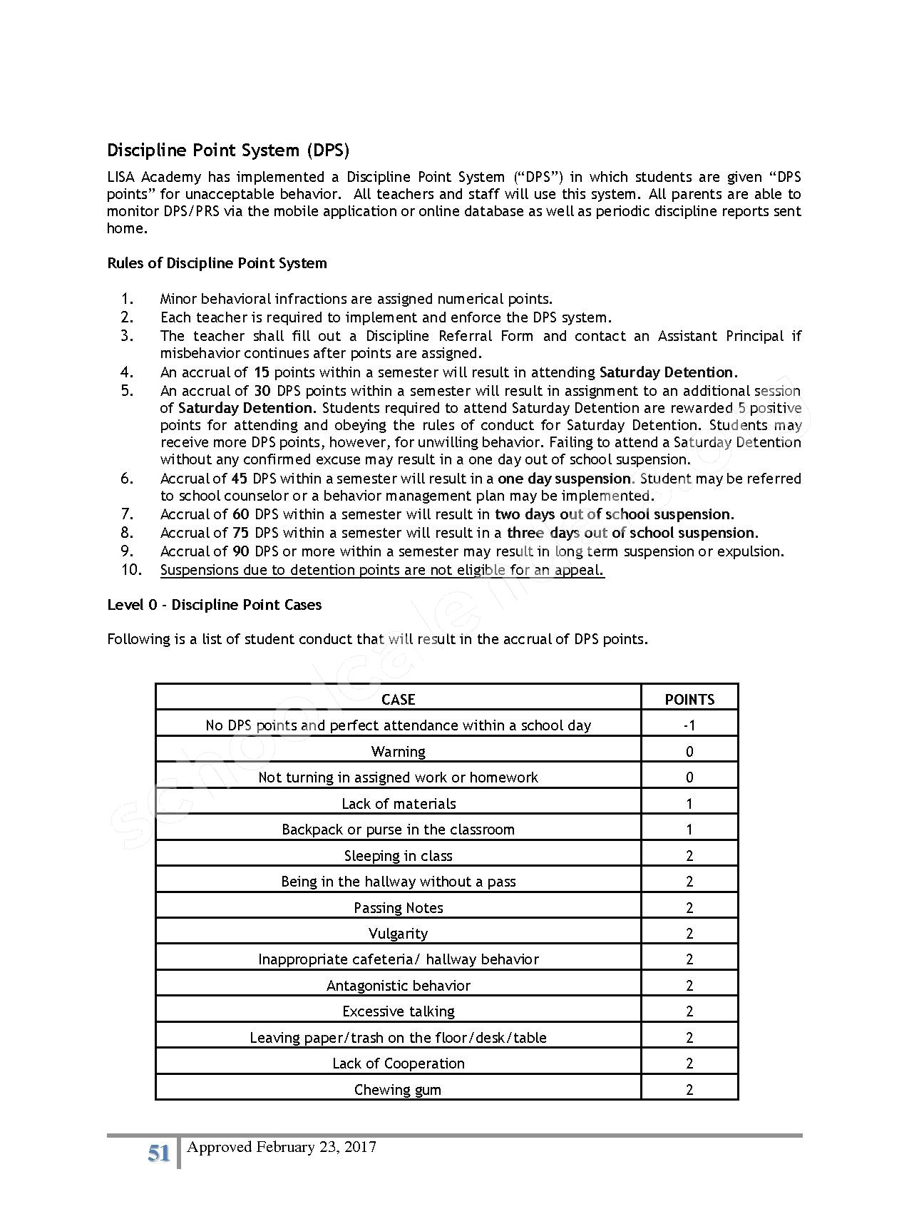 2016 - 2017 District Calendar – Lisa Academy Public Charter Schools – page 51