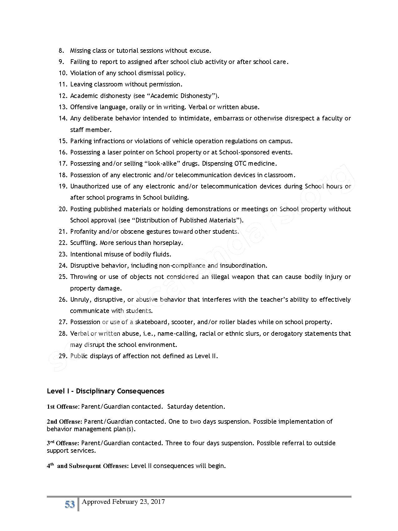 2016 - 2017 District Calendar – Lisa Academy Public Charter Schools – page 53