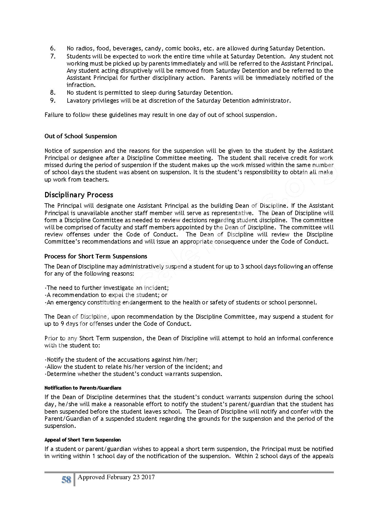 2016 - 2017 District Calendar – Lisa Academy Public Charter Schools – page 58