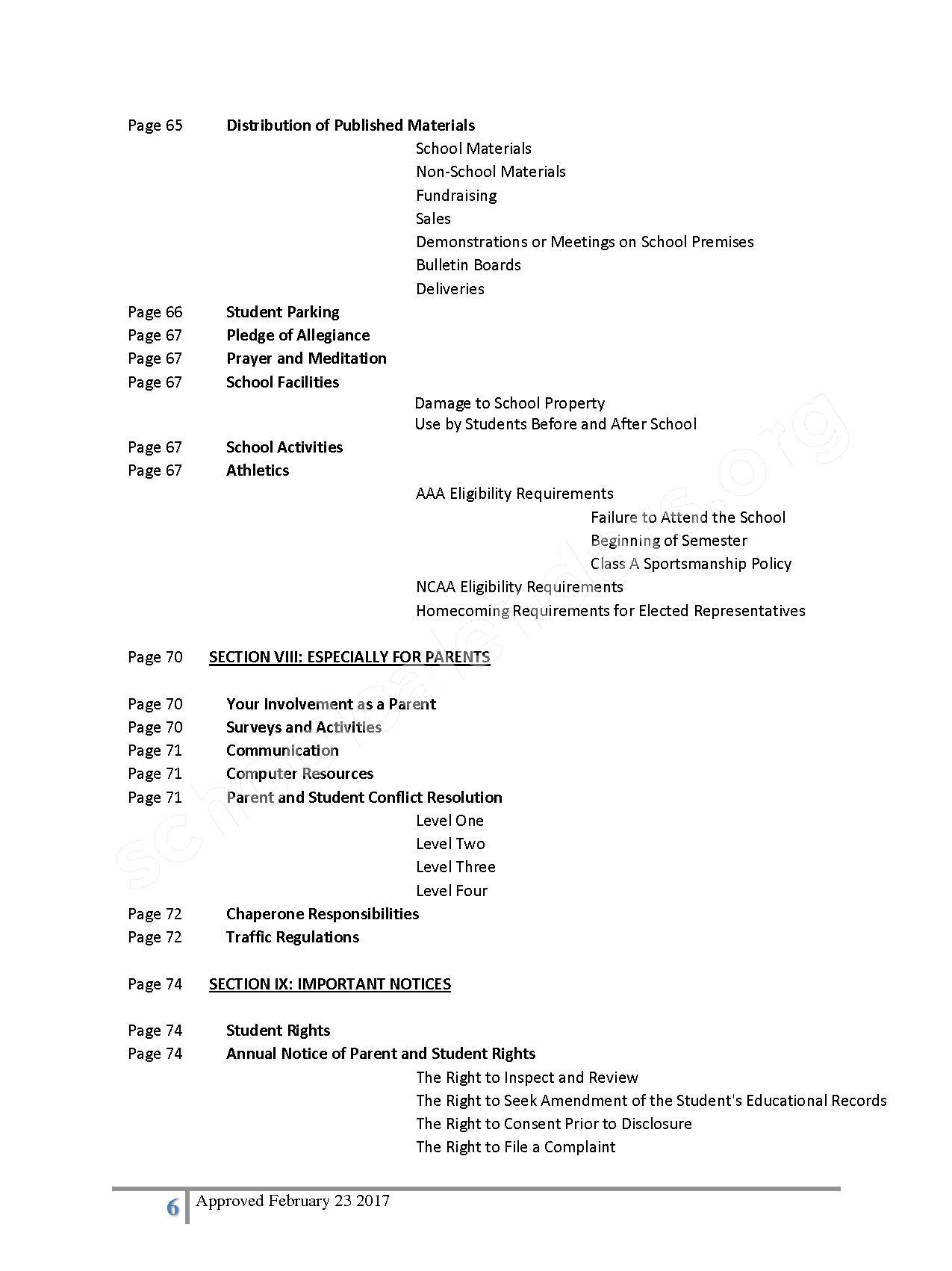 2016 - 2017 District Calendar – Lisa Academy Public Charter Schools – page 6