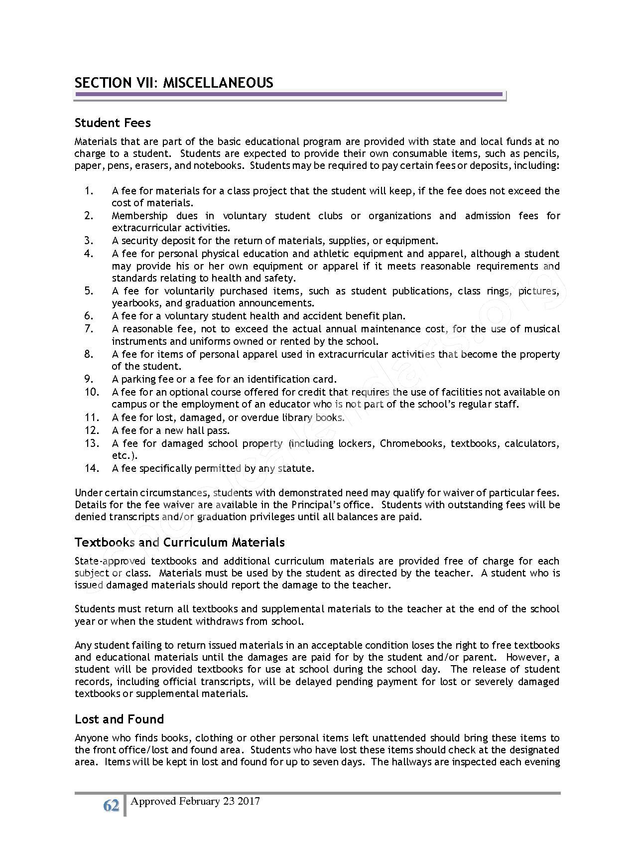 2016 - 2017 District Calendar – Lisa Academy Public Charter Schools – page 62
