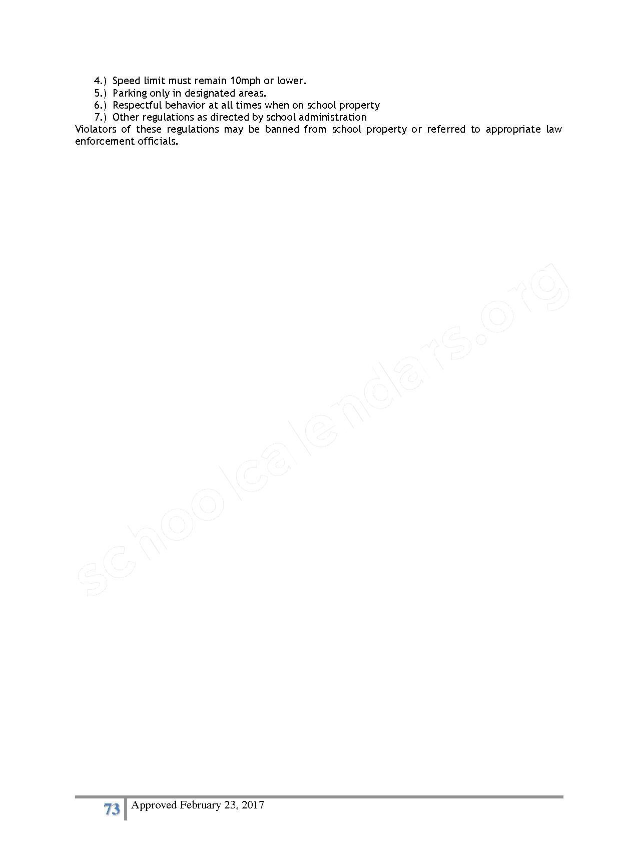 2016 - 2017 District Calendar – Lisa Academy Public Charter Schools – page 73