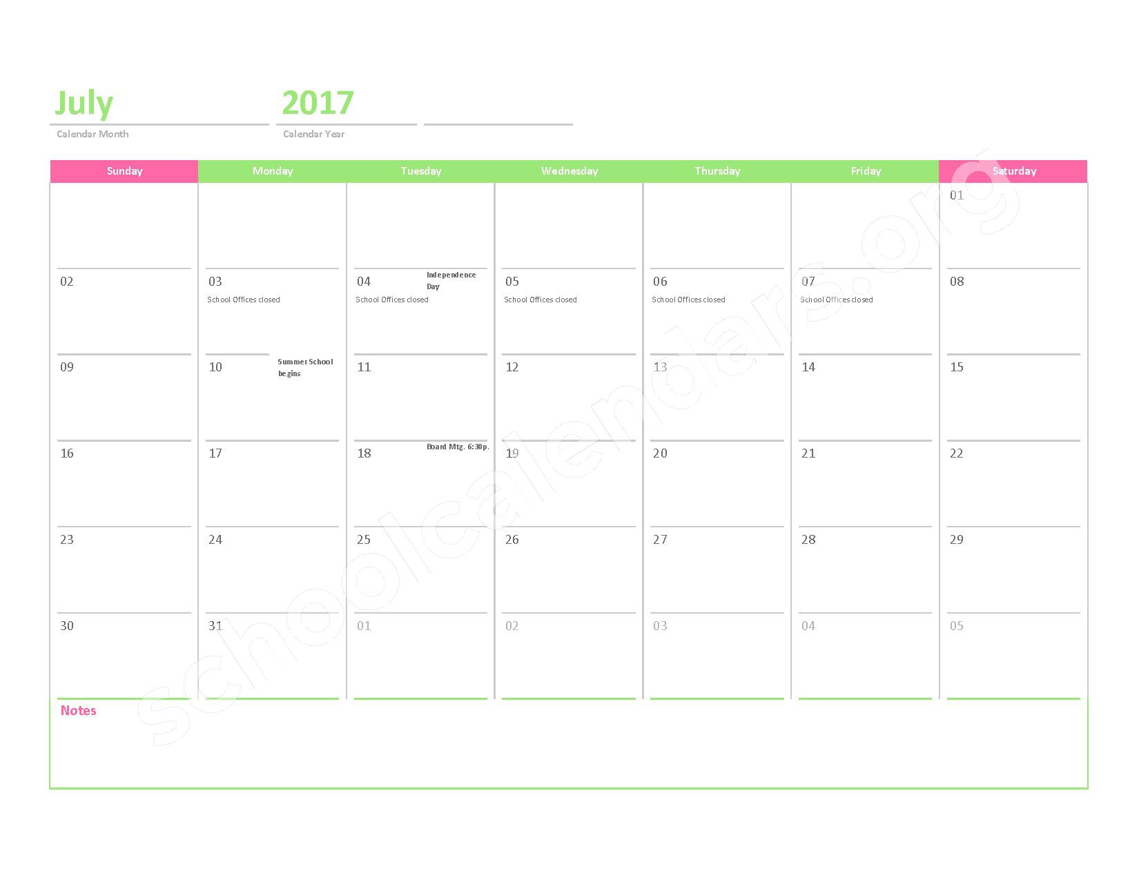 2016 - 2017 District Calendar – Crescent Academy Charter School – page 12