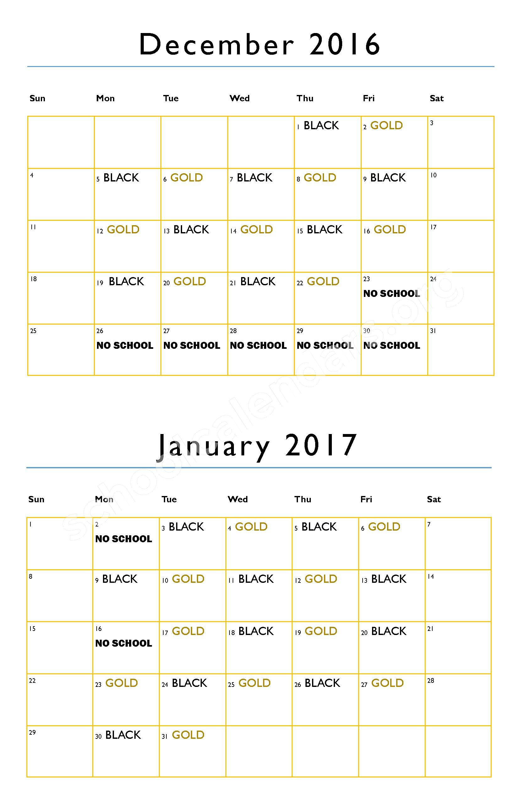 2016 - 2017 District Calendar – Hanson Colony Alternative High School - 07 – page 3