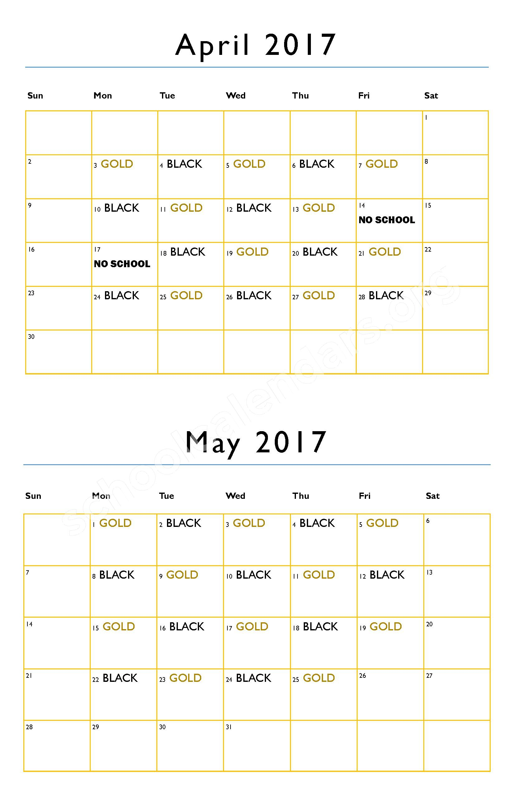 2016 - 2017 District Calendar – Hanson Colony Alternative High School - 07 – page 5