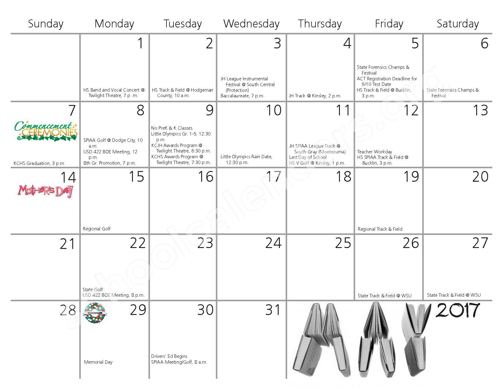 2016 - 2017 School Calendar – Kiowa County Schools USD 422 – page 10