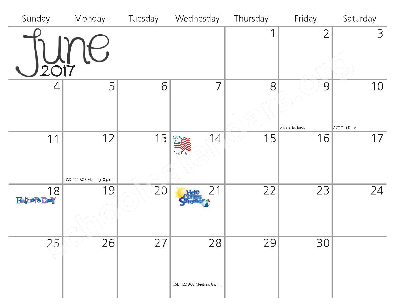 2016 - 2017 School Calendar – Kiowa County Schools USD 422 – page 11