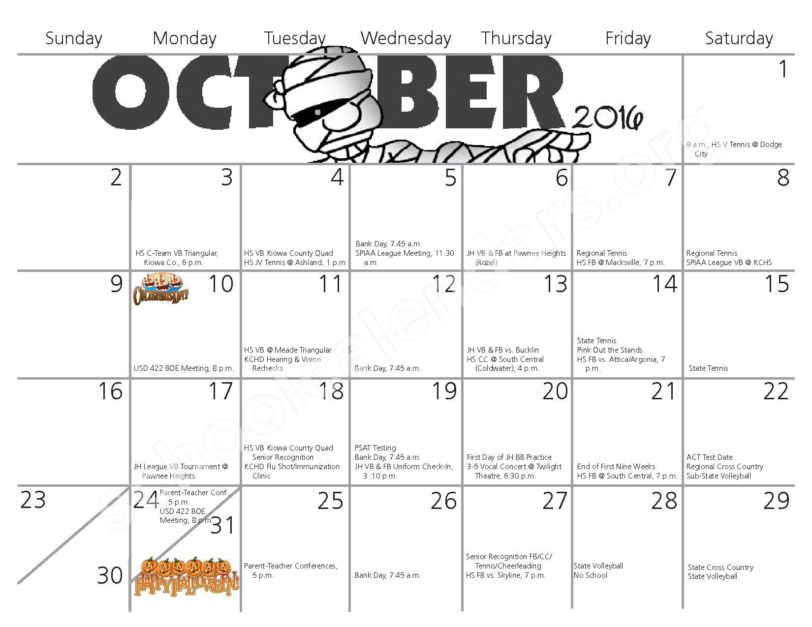 2016 - 2017 School Calendar – Kiowa County Schools USD 422 – page 3