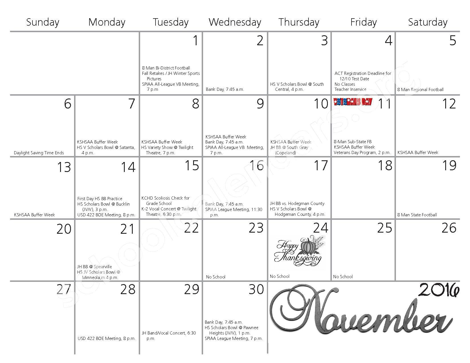 2016 - 2017 School Calendar – Kiowa County Schools USD 422 – page 4
