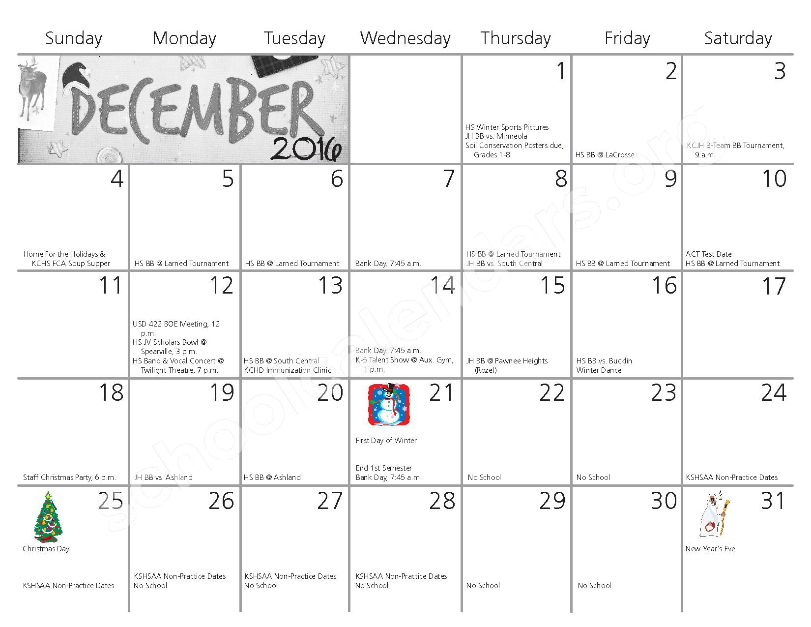 2016 - 2017 School Calendar – Kiowa County Schools USD 422 – page 5