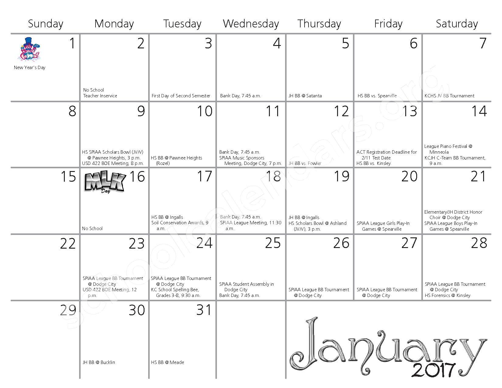 2016 - 2017 School Calendar – Kiowa County Schools USD 422 – page 6