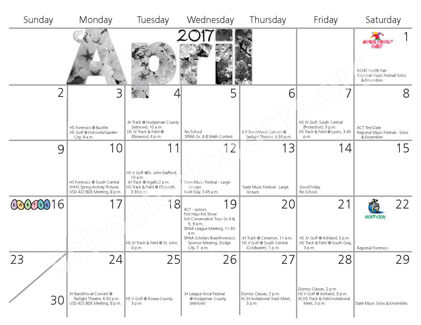 2016 - 2017 School Calendar – Kiowa County Schools USD 422 – page 9