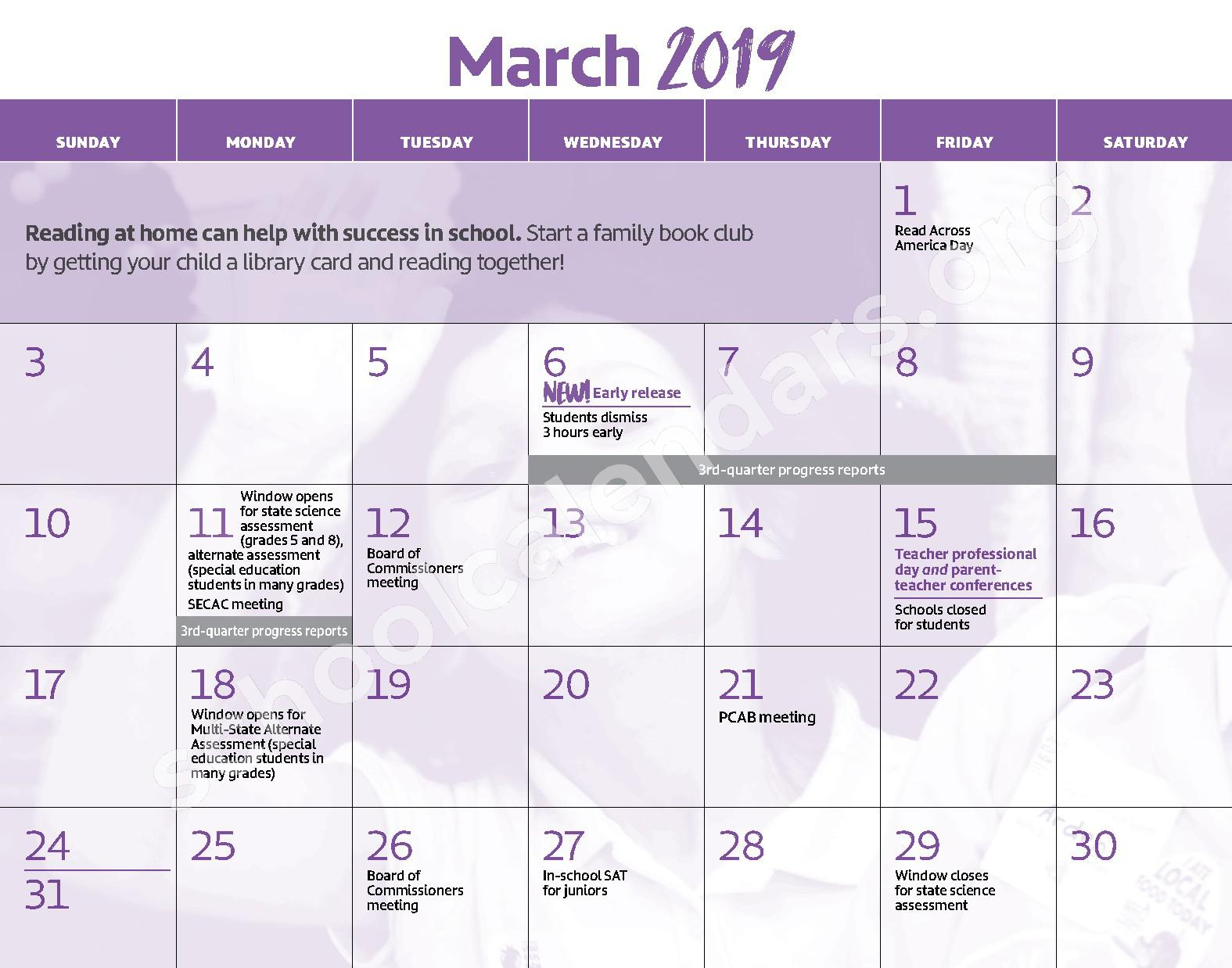 2018 - 2019 District Calendar – George W.F. McMechen – page 10