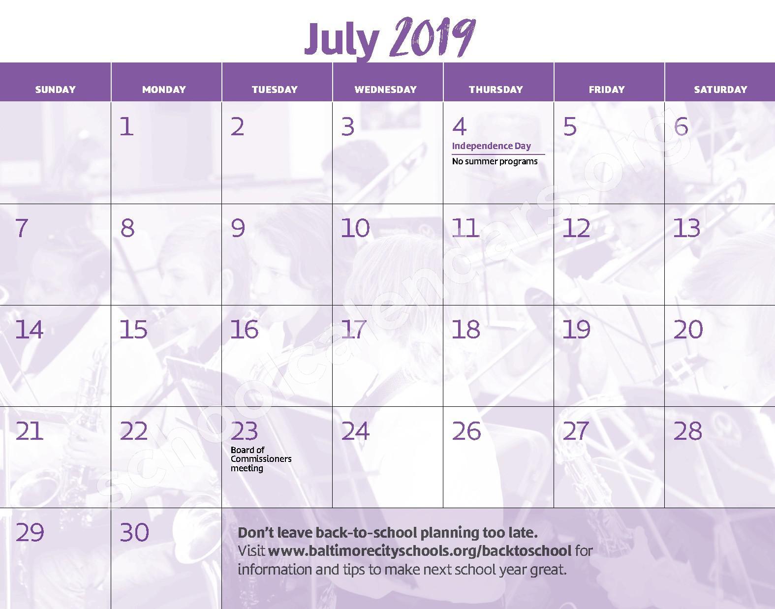 2018 - 2019 District Calendar – George W.F. McMechen – page 14