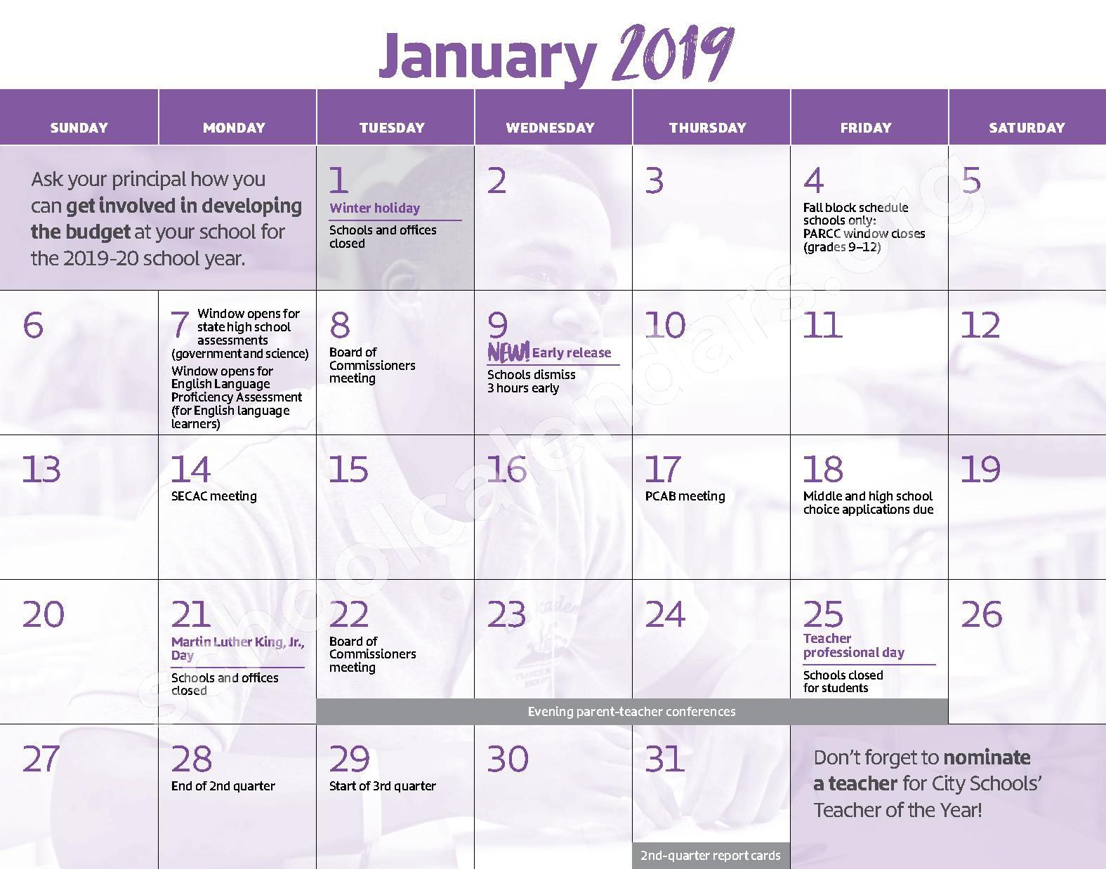 2018 - 2019 District Calendar – George W.F. McMechen – page 8