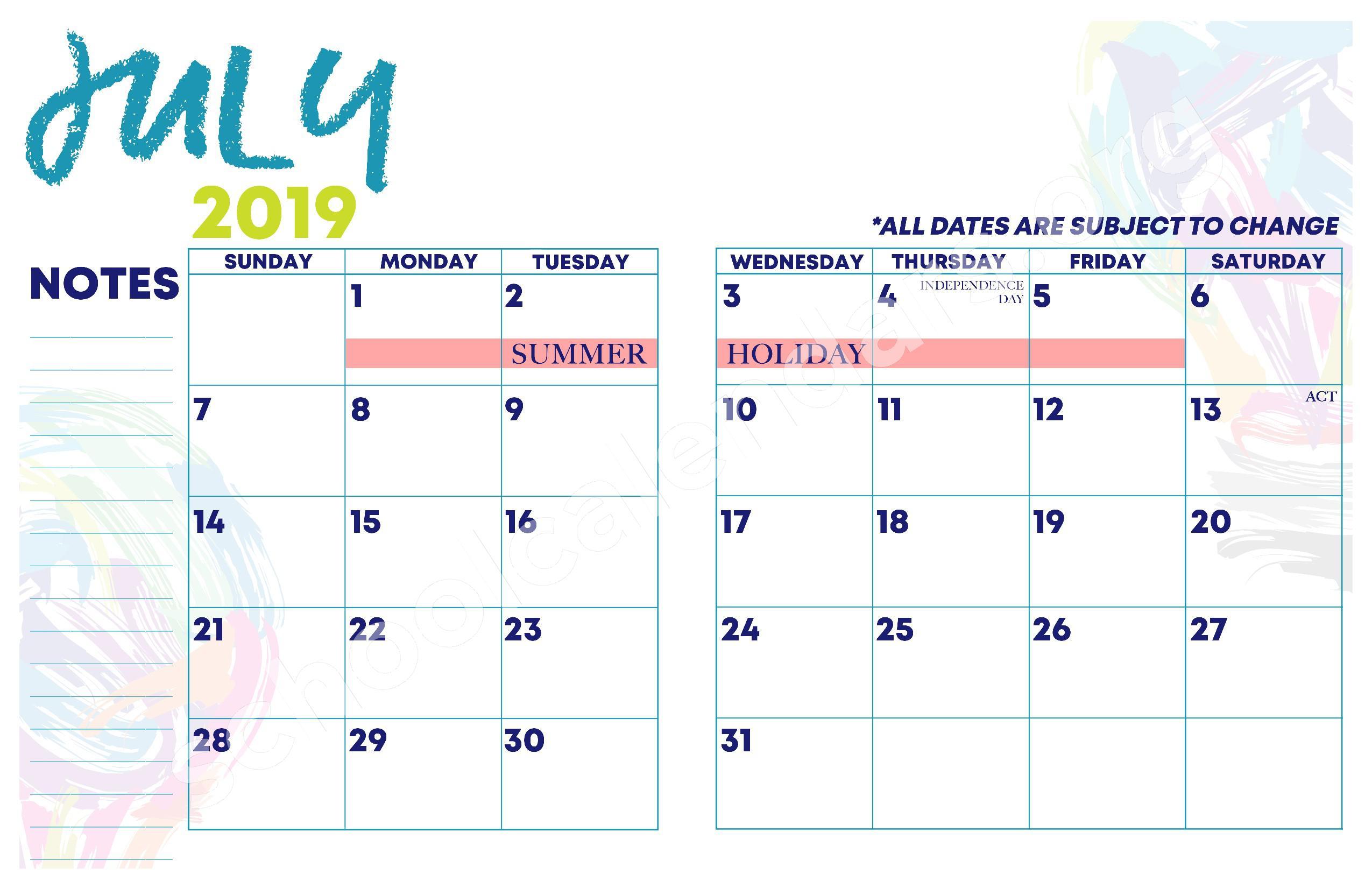 2018 - 2019 YISD Fine Arts Calendar – Desertaire Elementary School – page 16